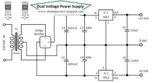 schematic voltage regulator the wiring diagram simple dual voltage power supply 12 volt diagram digital schematic schematic