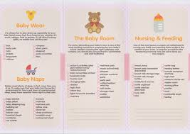 list of items needed for baby baby planning lists notes and apps daprayer