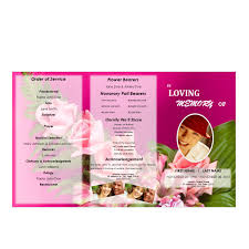 Download Funeral Program Templates Floral 24 Tri Fold Brochure Program Funeral Pamphlets 16