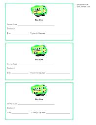 Pass Card Template School Pass Template School Counselor