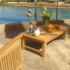 outdoor coffee table sumatra concrete and teak teakdeepseatingsumataracoffeetable02 90