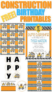 Birthday Invitations Printable Construction Birthday Party With Free Printables How To Nest For Less