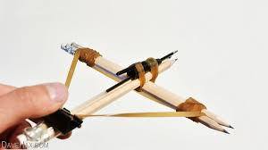 how to build a working crossbow from office supplies video build office video
