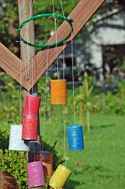 interior: Fascinating Old Tin Designed In Colorful Options Color As  Creative Homemade Windchimes Concept Hung