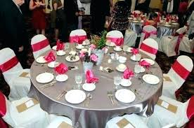 gray tablecloth