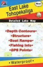 Fishing Hot Spots Map Chart Stockton Lake Mo L162 For Sale