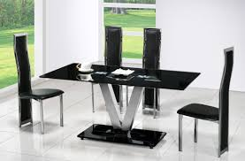 Modern Glass Kitchen Tables Designer Dining Room Tables Glass Top Table Sets At Modern Golime