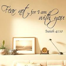 vinyl wall clings e vinyl wall art stickers fear not for i am with you vinyl wall