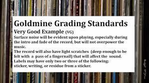 Vinyl Record Condition Chart Goldmine Record Grading Audio Examples