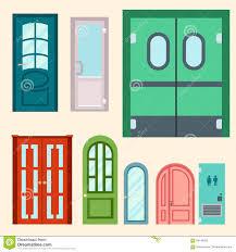 Door Vector Design Doors Vector Illustration Entrance Doorway Home House