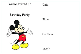 Blank Mickey Mouse Invitations Fresh Page Invitation Template Free ...