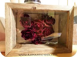 Dried Rose Heart 3D Craft in Shadow Box Frame, handmade valentine/christmas  gift | Romantic-idea.com - YouTube
