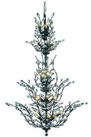 orchid 25 light dark bronze chandelier clear spectra swarovski crystal