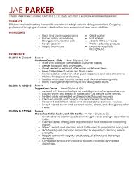 Restaurant Resume Example Busser Resume Sample Stibera Resumes Job Description Samples 84