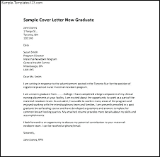 Sample Nursing Cover Letter New Grad New Grad Cover Letter Sample