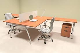 person office desk. Two Person Acrrylic Divider Office Workstation Desk Set, #OF-CON-AP56