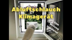 Klimaanlage Klimagerät Abluftschlauch Fensterdurchführung Version