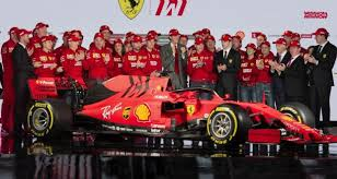 ferrari president john elkann centre talks during the presentation of 2019 formula one race