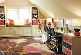 teen girls room with sloped ceiling decorating ideas