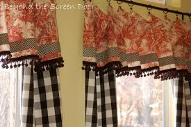 Yellow Gingham Kitchen Curtains Similiar Red Kitchen Window Treatments Keywords