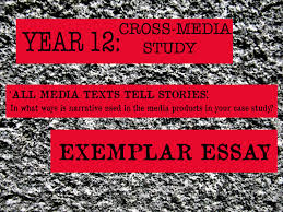 fishymedia resources for a as media studies year cross  year 12 cross media study exemplar essay