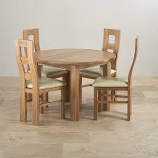 delivery dorset natural real oak dining set: knightsbridge natural solid oak dining set ft round extending table with  wave back and cream leather chairs bfdba