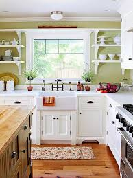 home office country kitchen ideas white cabinets. decorative shelf brackets open shelves mission style cabinets farm sink and wood floor make this kitchen a country love the pale pastel green home office ideas white