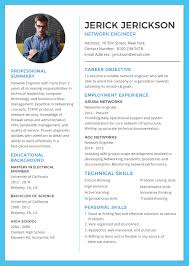 Resume Template Engineer Free Network Engineer Resume And CV Template In Adobe Photoshop 9