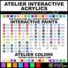 Atelier Acrylic Colour Chart Arylamide Yellow Light Interactive Acrylic Paints 0012