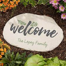 cozy home personalized garden stepping