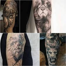 тату лев тату лев для мужчин мужские татуировки со львом