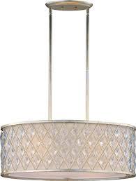 maxim diamond four light golden silver drum shade pendant transitional pendant lighting by lighting and locks