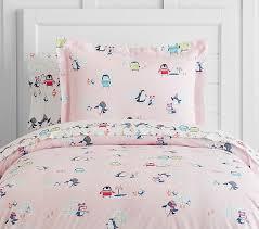 Twin Pink Quilt | Pottery Barn Kids & Organic Icy Penguin Duvet, Twin, Pink Adamdwight.com