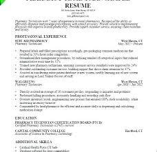 Objective For Pharmacy Resume Pharmacist Resume Technology Resume Template Sample Resume