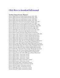 nissan 350 z electrical wiring diagram manual z33 2003 2009 Ford Mustang Fuse Box Diagram click here to download full manualanother nissan service manual nissan 180sx electrical wiring diagram manual