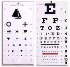 Occ Wsk Occluder Snellen Kindergarten Eye Exam Test Wall