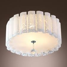 holytrinitychurch flush mount crystal light new elegant drum acrylic shade flush mount ceiling light with single
