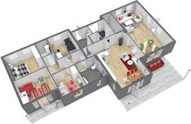 Awesome 32 Minimalist Home 2 Bedroom Floor Plan On Ideal Home Plan 4 Room House Design