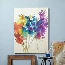 DIY Canvas Painting Ideas - Abstract Flowers Canvas Painting - Cool and Easy  Wall Art Ideas