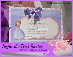 Make Birthday Party Invitations Sofia The First Birthday Invites
