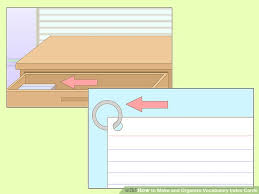 vocab cards with pictures 3 ways to make and organize vocabulary index cards wikihow