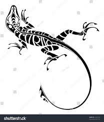 Stock Vektory Na Téma Lizard Tattoo Bez Autorských Poplatků