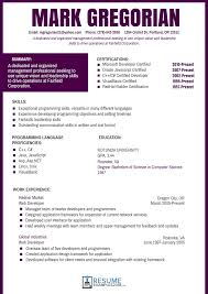 It Resume Formats Format For Experienced Candidates Freshers