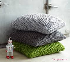 Free Knit Patterns Cool Knitted Pillow Free Knitting Pattern Yarnplaza For