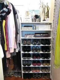 how to shoes in small closet best shoe storage images on shoe organizer ideas for