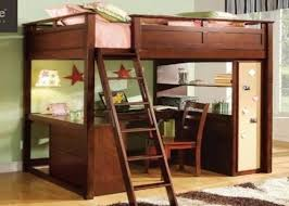 stylish full size wood loft bed childrens student full sized loft bed and desk system for matts