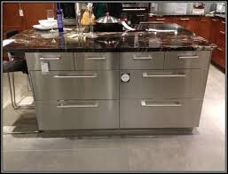 stainless steel kitchen island with marble butcher block top from ikea full size