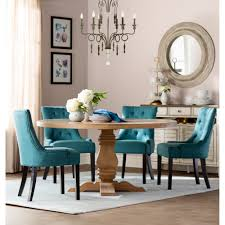 chandelier and tufted dining chairs with wayfair round dining table also round wall mirror
