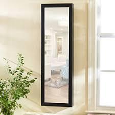 mirror jewelry. black wood over-the-door jewelry armoire mirror