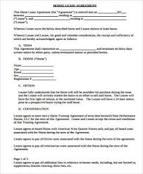 Lease Agreement In Pdf Awesome Sample Horse Lease Agreement 48 Examples In Word Pdf For Horse Lease